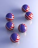 sphères américaines Photo libre de droits