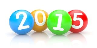 Sphères avec les numéros 2015 Image stock