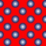 Sphères bleues sur la configuration sans joint rouge Illustration Libre de Droits