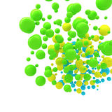 Sphères colorées abstraites au-dessus de blanc Photo stock