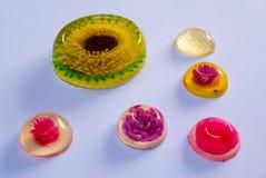 Sphères colorées de gelée Images stock