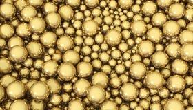 Sphères d'or Image libre de droits