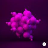 sphères 3d abstraites Illustration de vecteur Images stock