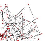 sphères 3d rouges futuristes et lignes noires Photo libre de droits