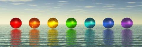 Sphères de Chakra illustration libre de droits