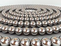 Sphères de chrome Photo libre de droits