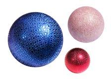 Sphères de couleur de Noël Photographie stock