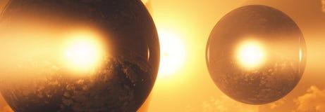 Sphères de diamant en atmosphère Photographie stock