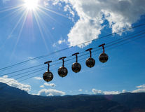sphères de Grenoble photos libres de droits