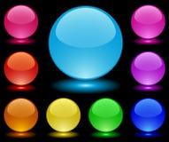 Sphères de la prise de masse glass-2 illustration stock