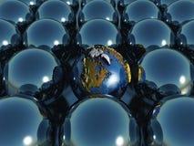 sphères de la terre 3D Photographie stock