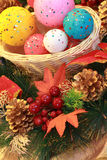 Sphères de Noël. Image libre de droits