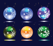 Sphères de Noël illustration libre de droits