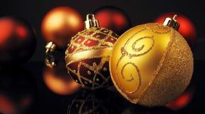Sphères de Noël Image libre de droits
