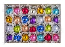 sphères de Noël 3d blanches Image libre de droits