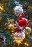 sphères de Noël 3d blanches Photographie stock libre de droits