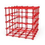 sphères du cube 3D et du coin Photos stock