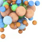 sphères du résumé 3d Photo stock