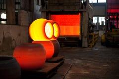 Sphères en acier chaudes Photos libres de droits