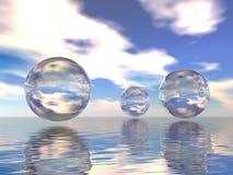 sphères en verre Photo libre de droits