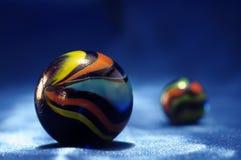 Sphères en verre colorées Photos libres de droits