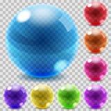 Sphères en verre colorées Image stock