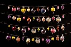 Sphères en verre colorées Images libres de droits