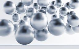 Sphères métalliques grises Photos stock