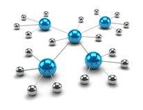 Sphères métalliques liées ensemble Photo libre de droits