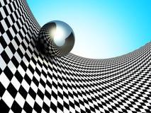 Sphères métalliques sur la surface de contrôleur abrégez le fond Photographie stock