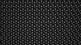 Sphères noires remplissant écran à partir du fond jusqu'au dessus Photo stock