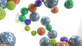 Sphères planantes multicolores banque de vidéos