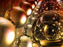 Sphères r3fléchissantes en verre abstraites Photographie stock libre de droits