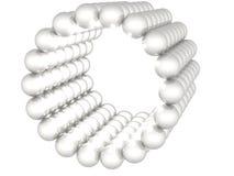 Sphères r3fléchissantes grises sur le fond blanc Photographie stock libre de droits