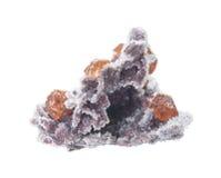Sphalérite sur une matrice avec des cristaux de quartz photos libres de droits