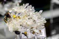 Sphaleritquarz Chalcopyritemineral Lizenzfreies Stockbild