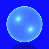 Sphere. Mesh sphere in the blue Royalty Free Stock Images