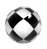 Sphere. Brilliant sphere with drawing on a surface in the form of a chessboard Stock Photography