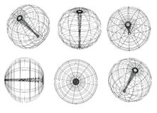 Sphere. Illustration: original globe elements-spheres Stock Images