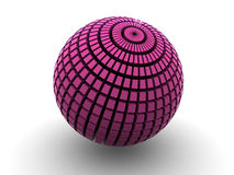 Sphere. 3d. Beautiful three-dimensional graphic object royalty free illustration