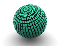 Sphere. One sphere. 3d isolated object Royalty Free Stock Photos