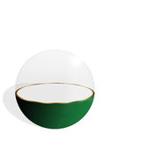 Sphere 3. Sphere with clear glass dome on a white background Stock Image