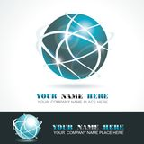 Sphere 3d design. Vector symbol Royalty Free Stock Photography