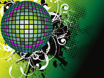 Sphere. Disco sphere and grunge design elements for your promotion Royalty Free Stock Image