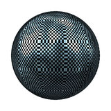 Sphere. Check pattern bright glossy sphere Royalty Free Stock Photography