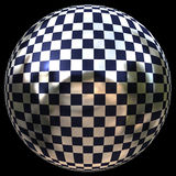 Sphere. Check pattern bright glossy sphere Royalty Free Stock Photos