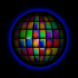 Sphere abstract bright colorful background royalty free stock images