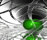 Sphere in abstract space Stock Photography