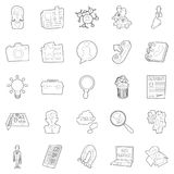 Sphere of activity icons set, outline style Stock Photos