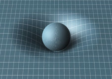 Sphere is affecting space / time around it Stock Photos